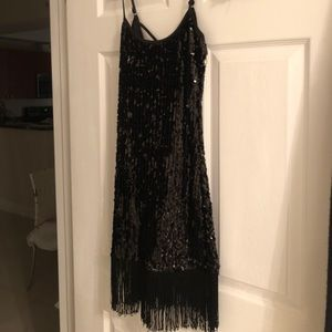 "Black sequin ""flapper style dress"""